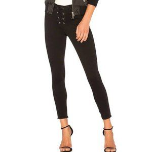 L'AGENCE the cherrie lace-up high rise black jeans